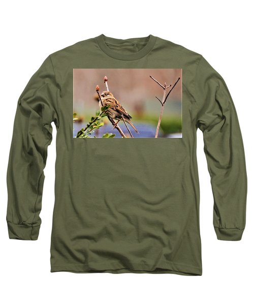 Bird In The Cold Long Sleeve T-Shirt