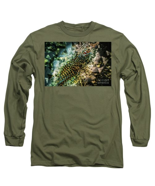 Bird Meets Glass Long Sleeve T-Shirt