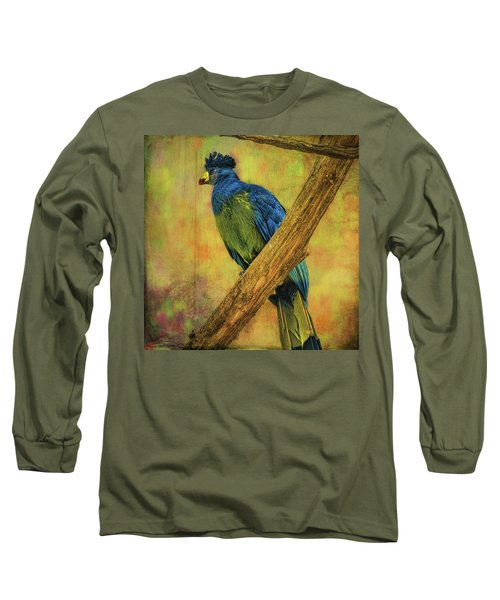 Long Sleeve T-Shirt featuring the photograph Bird On A Branch by Lewis Mann