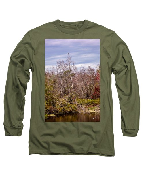Long Sleeve T-Shirt featuring the photograph Bird Out On A Limb 3 by Madeline Ellis
