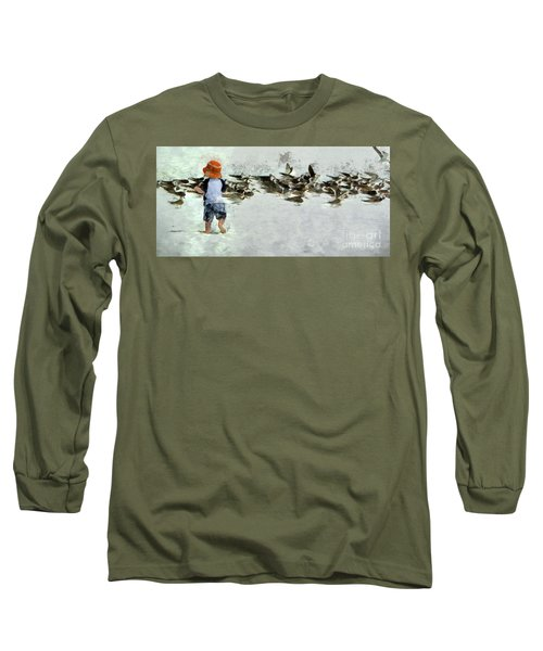 Bird Play Long Sleeve T-Shirt