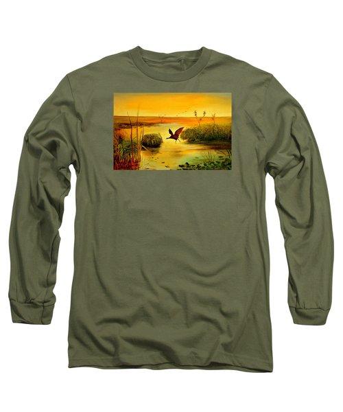 Bird Water Long Sleeve T-Shirt