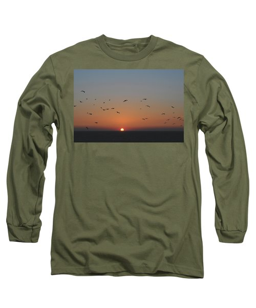 Birds In Sunset Long Sleeve T-Shirt