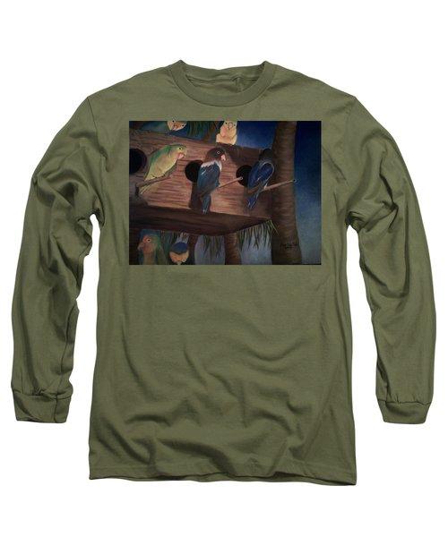 Birds Resting Long Sleeve T-Shirt