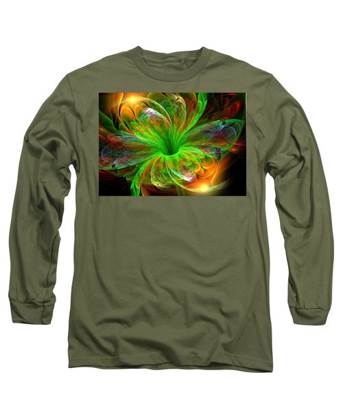 Long Sleeve T-Shirt featuring the digital art Birst Of Spring by Svetlana Nikolova