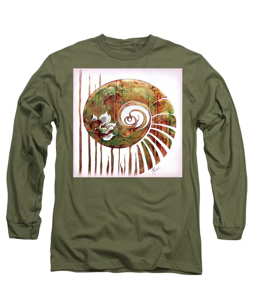 Birth Of Lotus Land Long Sleeve T-Shirt by Anna Ewa Miarczynska