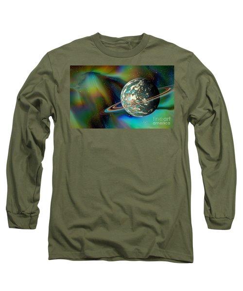 Birthing Planet Long Sleeve T-Shirt by Curtis Koontz