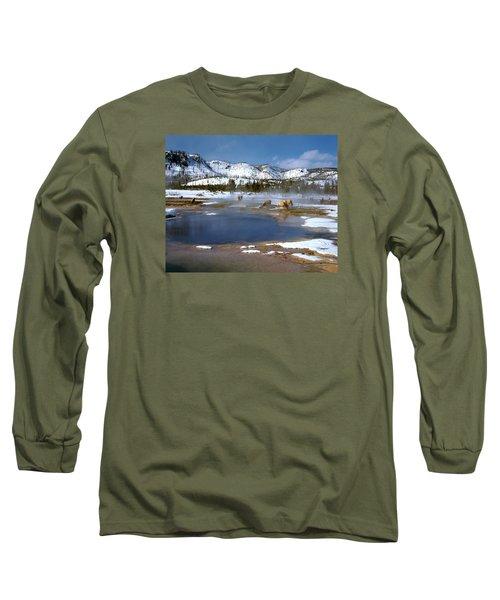 Biscuit Basin Elk Herd Long Sleeve T-Shirt