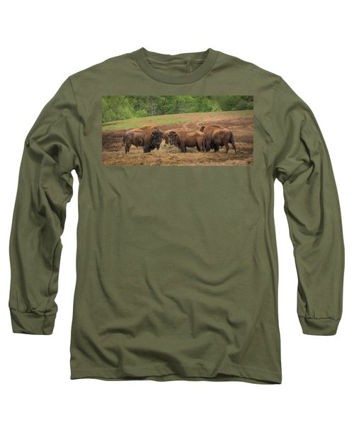 Long Sleeve T-Shirt featuring the photograph Bison 2 by Joye Ardyn Durham