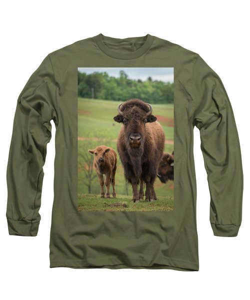 Long Sleeve T-Shirt featuring the photograph Bison 4 by Joye Ardyn Durham