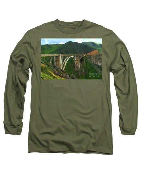 Bixby Bridge In Big Sur Long Sleeve T-Shirt