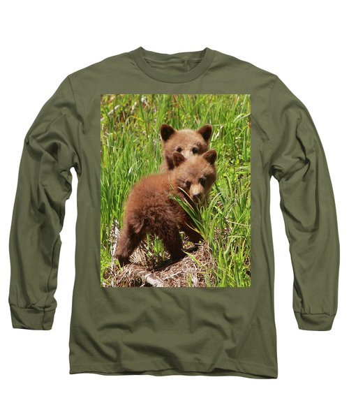 Black Bear Cubs Long Sleeve T-Shirt