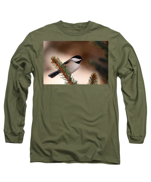 Black-capped Cickadee II Long Sleeve T-Shirt
