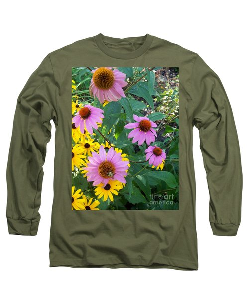 Black Eye Susans And Echinacea Long Sleeve T-Shirt
