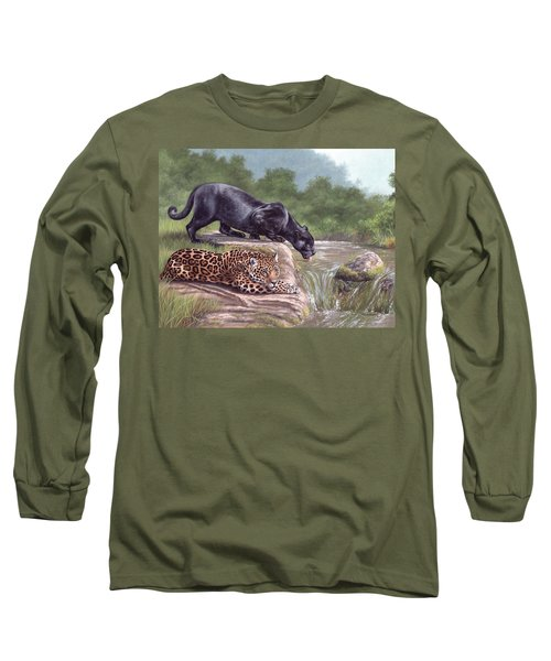 Black Panther And Jaguar Long Sleeve T-Shirt