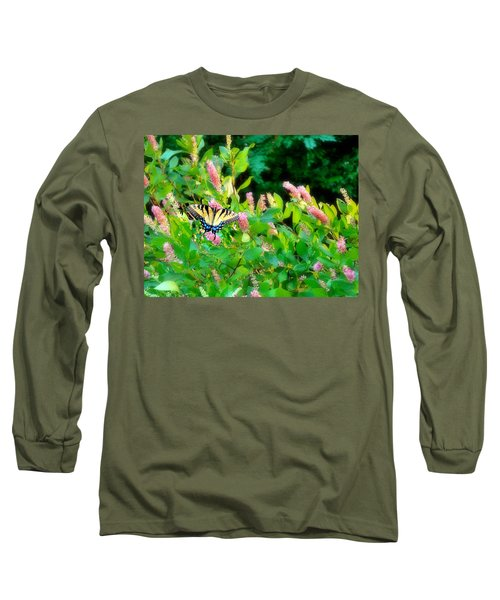 Black Swallowtail Long Sleeve T-Shirt