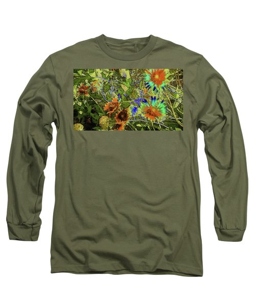 Blanket Flower II Long Sleeve T-Shirt by Donna G Smith