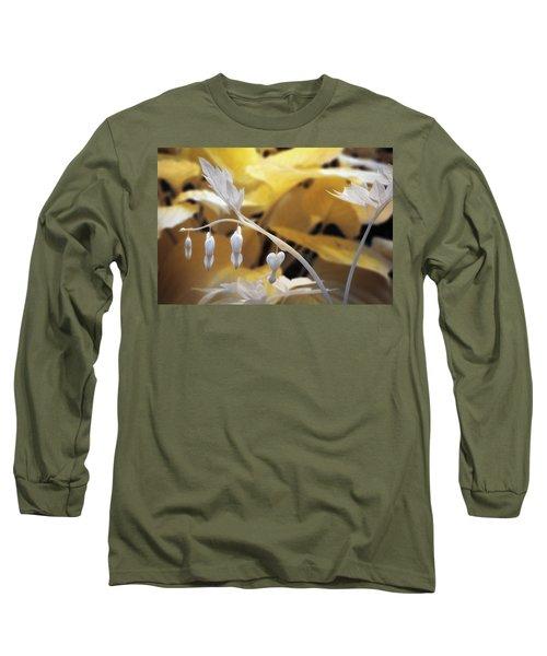 Bleeding Heart Gld Long Sleeve T-Shirt by Paul Seymour