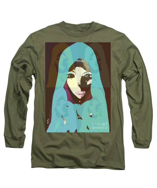 Long Sleeve T-Shirt featuring the mixed media Blessed 2 by Ann Calvo