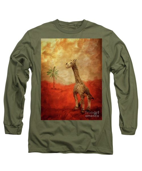 Long Sleeve T-Shirt featuring the digital art Block's Great Adventure by Lois Bryan
