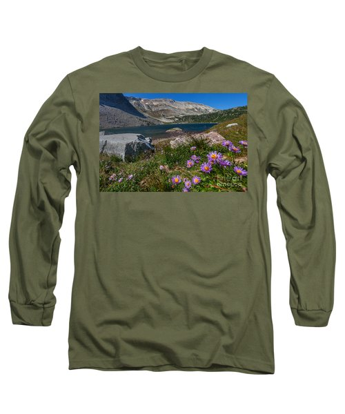 Blooming In Snowy Range Long Sleeve T-Shirt