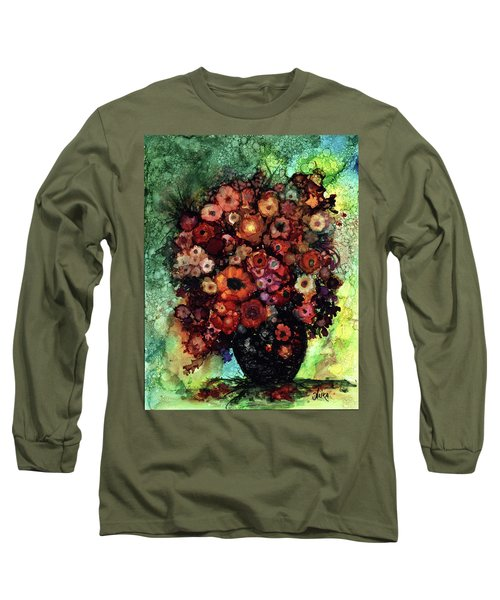 Blooms And Black Onyx Long Sleeve T-Shirt