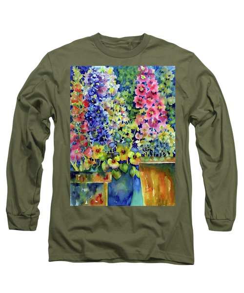 Blooms In Pots Long Sleeve T-Shirt