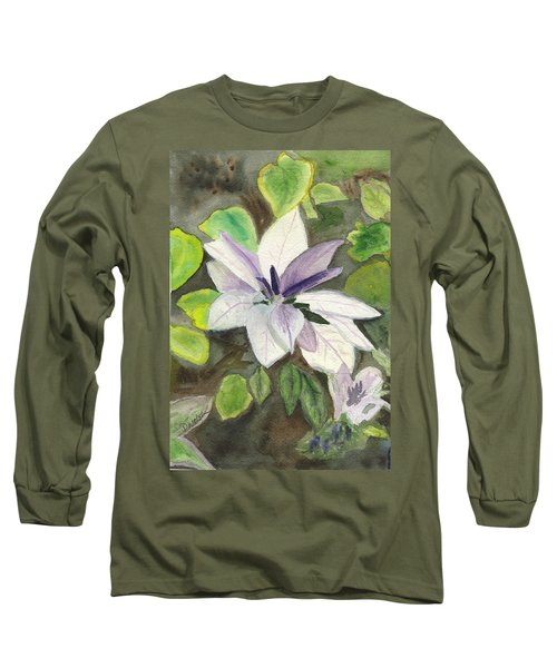 Long Sleeve T-Shirt featuring the painting Blossom At Sundy House by Donna Walsh