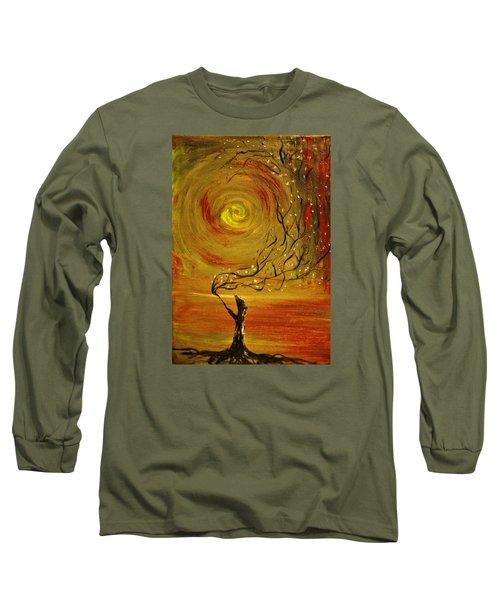 Blossom Long Sleeve T-Shirt by Evelina Popilian