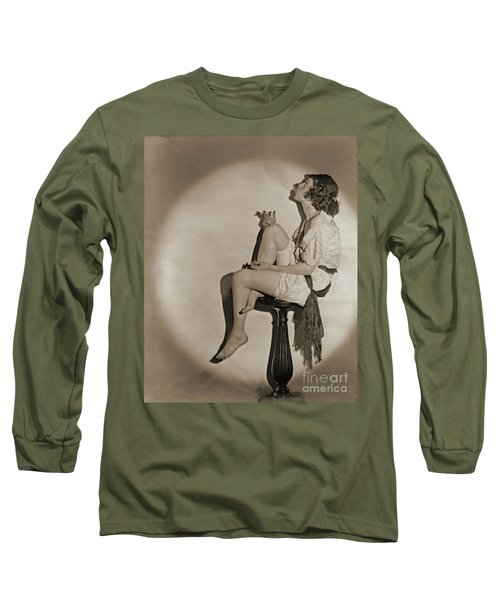 Long Sleeve T-Shirt featuring the photograph Blowing Smoke 1922 by Padre Art