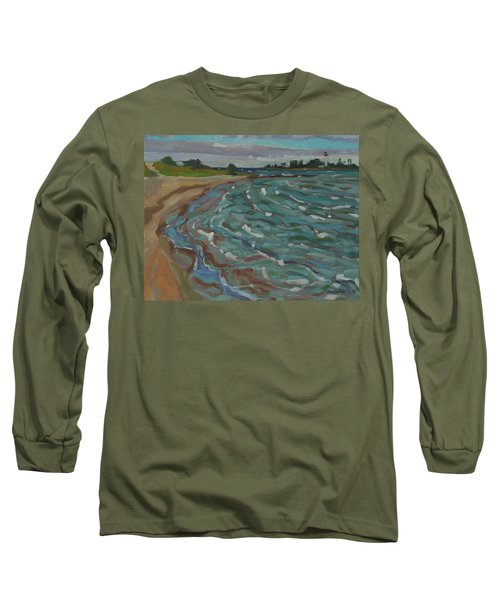 Blown Away Southampton Beach Long Sleeve T-Shirt