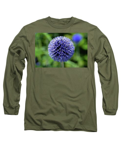 Long Sleeve T-Shirt featuring the photograph Blue Allium by Terence Davis