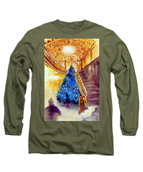 Blue And Gold 2 - Michigan Theater In Ann Arbor Long Sleeve T-Shirt by Yoshiko Mishina