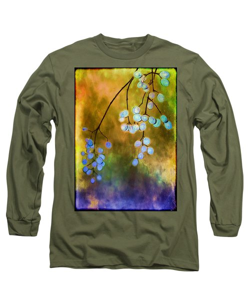 Blue Autumn Berries Long Sleeve T-Shirt