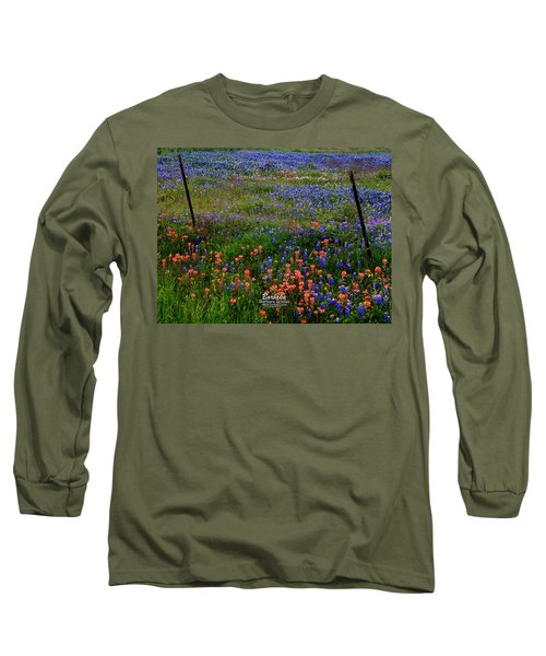 Bluebonnets #0487 Long Sleeve T-Shirt by Barbara Tristan