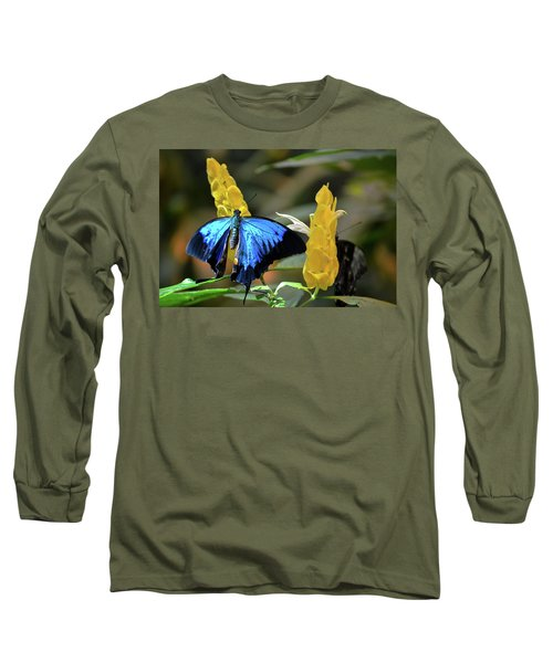 Blue Beauty Butterfly Long Sleeve T-Shirt