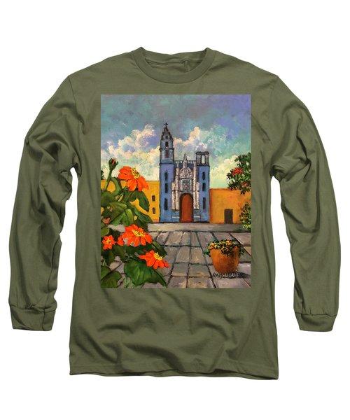 Blue Church   Iglesia Azul Long Sleeve T-Shirt