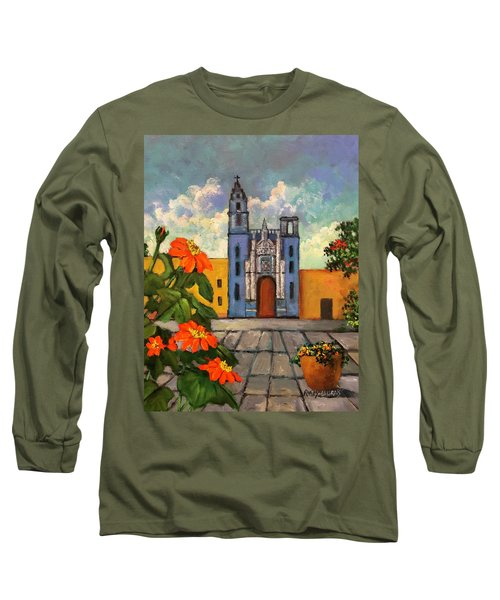 Blue Church   Iglesia Azul Long Sleeve T-Shirt