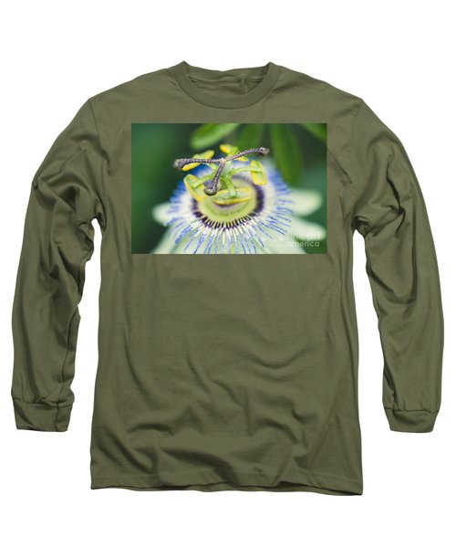 Blue Crown Passiflora Caerulea Passion Flower Long Sleeve T-Shirt