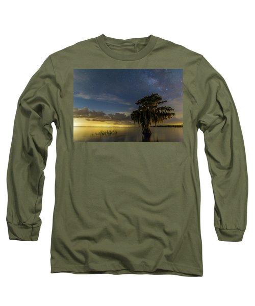 Blue Cypress Lake Nightsky Long Sleeve T-Shirt