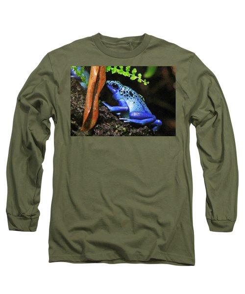 Blue Dart Frog Long Sleeve T-Shirt