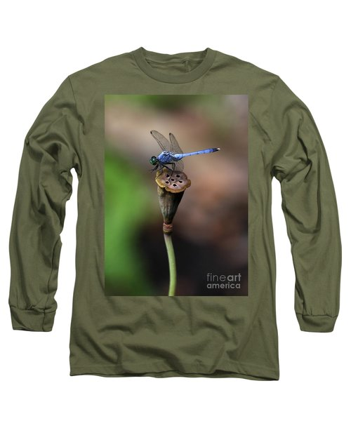 Blue Dragonfly Dancer Long Sleeve T-Shirt