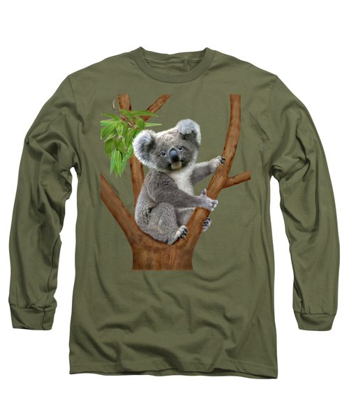 Blue-eyed Baby Koala Long Sleeve T-Shirt by Glenn Holbrook