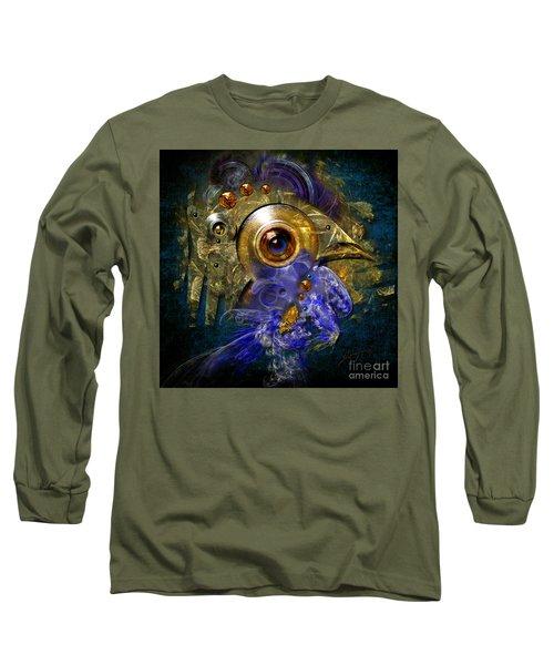 Blue Eyed Bird Long Sleeve T-Shirt