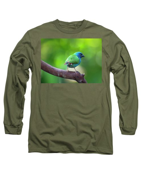 Blue-faced Parrotfinch Long Sleeve T-Shirt