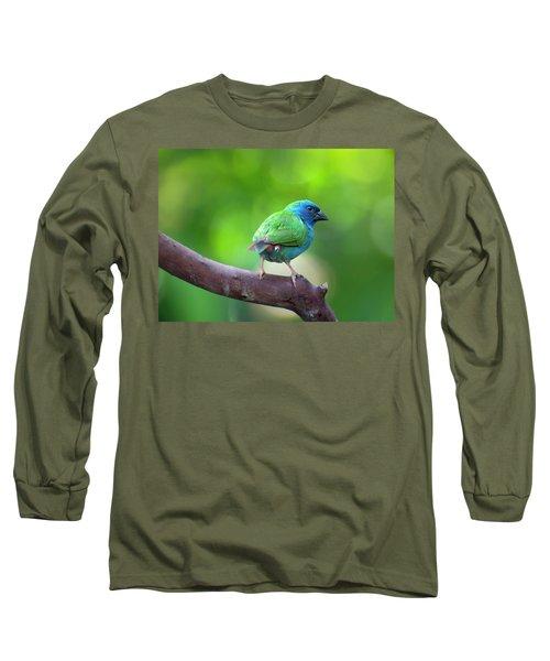 Blue-faced Parrotfinch Long Sleeve T-Shirt