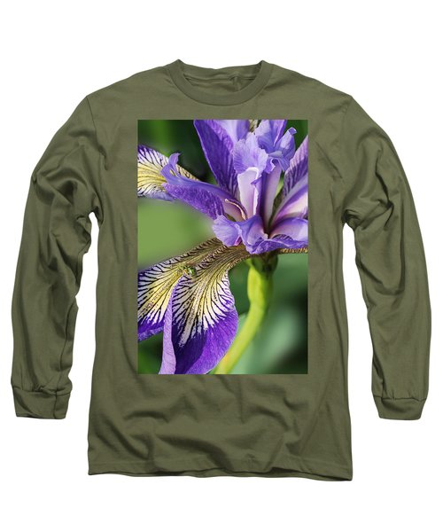 Long Sleeve T-Shirt featuring the photograph Blue Flag  by Susan Capuano