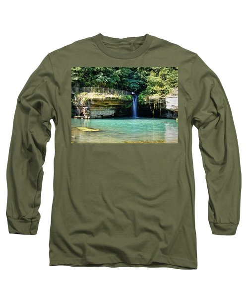 Long Sleeve T-Shirt featuring the photograph Blue Glory by Cricket Hackmann
