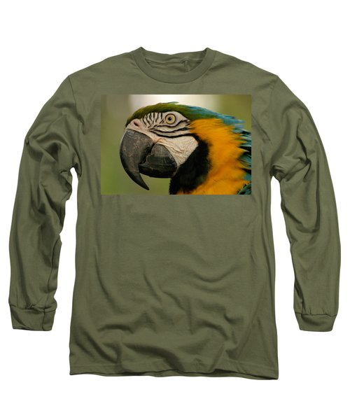 Blue Gold Macaw South America Long Sleeve T-Shirt by Ralph A  Ledergerber-Photography