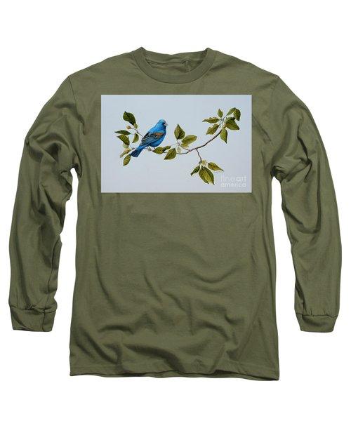 Blue Grosbeak Long Sleeve T-Shirt